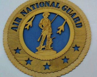 Air National Guard – Wall Plaque Wooden Model