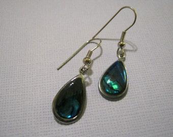 Faux mother of pearl drop earrings