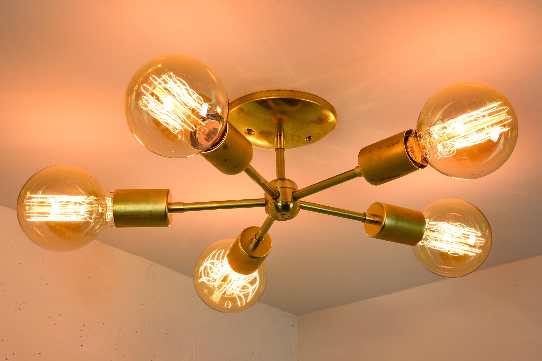 flush light mount shades satin capiz chandeliers of modern products chandelier shell nickel