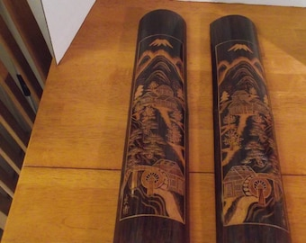 Etchings On Bamboo Wall Hanger