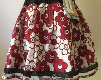 "Handmade Girl's Skirt size 7-8 years ""happy"""