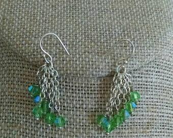 Swarovski Crystal & Chain Earrings