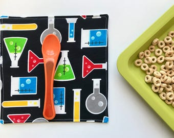 Cloth Napkins Science Kids (Easter Gift, Reusable Napkins, Cotton Napkins, For Children, Lunch Napkins, Gift Under 15, STEM Chemistry)