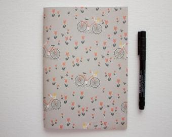 crazy cat lady, bicycle journal, writing journal, lined journal, small sketchbook, sketchbook journal, notebook journal, prayer journal
