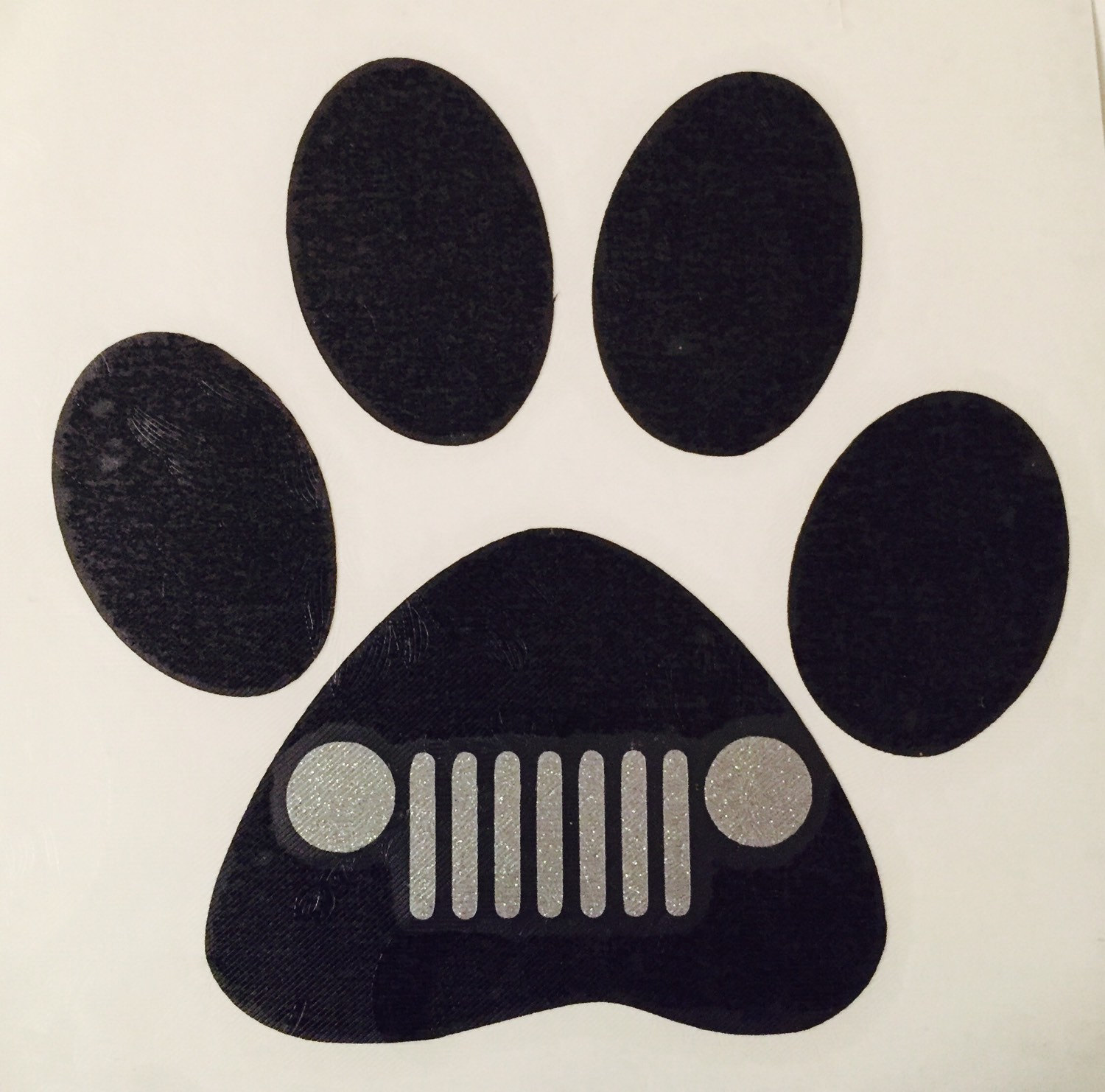 Jeep Decaldog Paw Decal Jeep Grill Dog Vinyl Decal