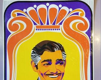 Clark Gable, Rhett Butler Pyschodelic Caricature by Pop Artist Elaine Hanelock: 1968, Royal Sceen Craft Inc.