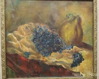 Fruit,Old Pictures,Oil Original Art, Large acrylic Art, Original Art, Living Room Art, Large Canvas Art