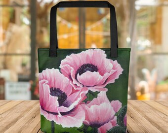 Pretty Pink Poppies Tote bag