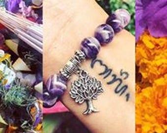 Purple amethyst Quartz gemstone bracelets