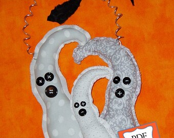 CUTE! Three Ghosts PDF Sewing Pattern Halloween Instant Download