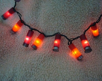 Classic Hunter Red Color Shotgun Shell Party Lights- Set of 100 lights!!! (23 feet total).