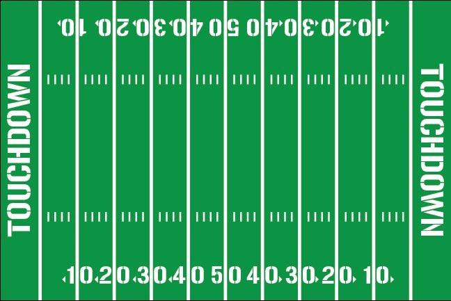 Football Field Yardline Numbers Room Decal Removable Vinyl