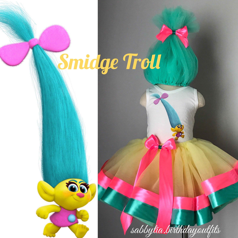 ?zoom  sc 1 st  Etsy & Smidge Troll Tutu Outfit Trolls costume Trolls tutu Trolls