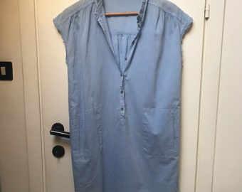 HUMANOID - Maxi shirt/tunic - Light blue - M