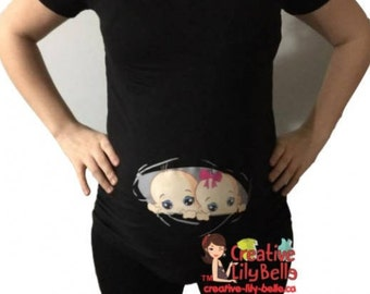 maternity shirt twins CHOOSE GENDER cm175