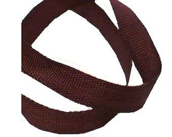 "3/16"" Tudor Brown Ribbon, 1900's Vintage Sewing Craft Supply"