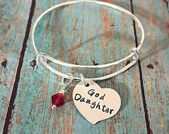 God Daughter Bangle Bracelet - God Daughter - God Daughter Gift - Gift for Little Girls - Little Girl Gift - Birthday Gift for a Girl