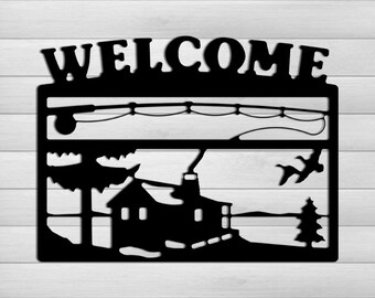 Welcome Signs  Log Cabin Decor