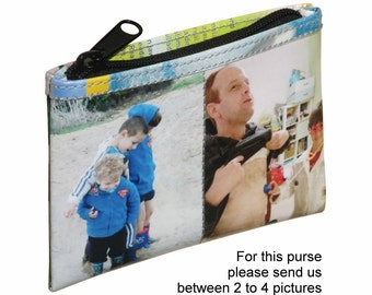 LARGE custom coin purse made using pictures from you - FREE SHIPPING - gift gifts for mom girlfriend her personalized wallet purses bags