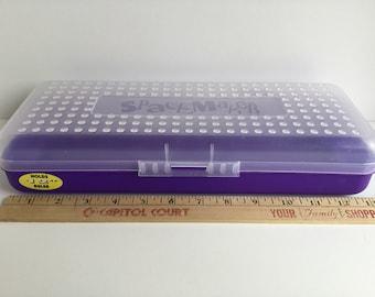 Vintage SPACEMAKER Extra Long Plastic Pencil Case