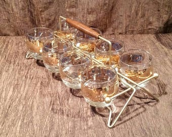 Set of 8 Roly Poly Whiskey Glasses in carrier, free shipping