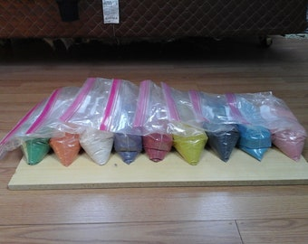 27 Pounds of Non Toxic Sand,  9 Assorted Colors,  3 pounds each,  plus Free Shipping