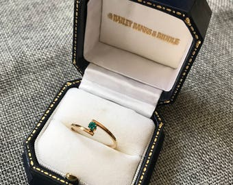 Simple Blue Stone Ring // Gift for Her