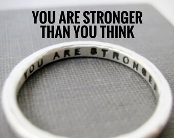 Quote Idea: Personalized Ring, Inspiration, Affirmation, Motivation