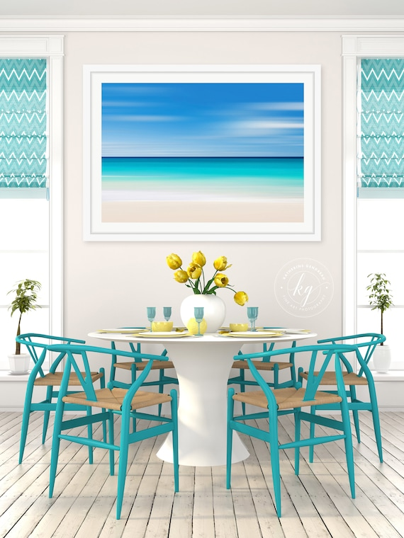 Large Framed Art Beach Photography Abstract Wall Art