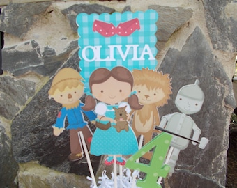 Wizard Of Oz Centerpiece/ Wizard of Oz Cake Topper/Wizard of Oz Birthday Party/ Dorthy/ Ruby Red Slippers/ Cowardly Lion/ Tin Man/ Scarecrow