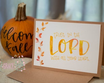5x7 Trust in the LORD Handmade Card