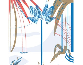 A3 Palm Tree Forest Print