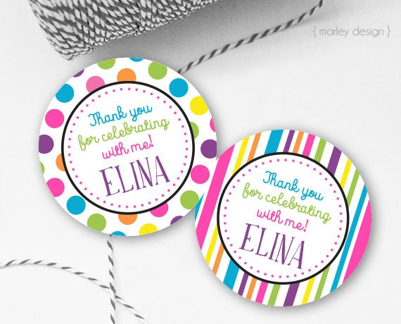 This is a picture of Gargantuan Printable Party Favor Tags