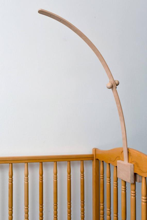 Baby Crib Wooden Beech Mobile Arm Baby Nursery Mobile Crib