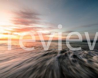 High Resolution Ocean Sunrise Digital Print
