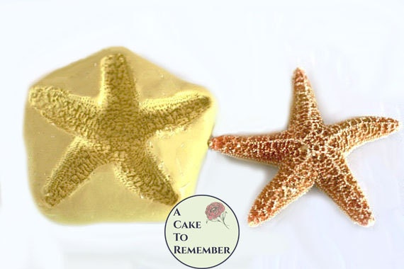 Silicone 3 starfish Mold for cake decorating polymer