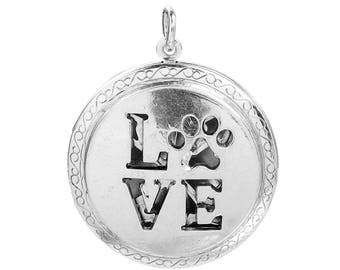 Love Lockets, Diffuser Lockets, Love Pet Paw, Aromatherapy Diffuser,  4161