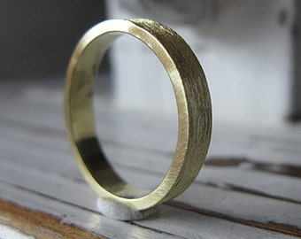 SALE Mens Wedding Band 18K Gold Size 11 3/4 Mens Wedding Ring Gold Wedding Band Green Gold Ring Green Gold Band Mens Wedding Rings Unique