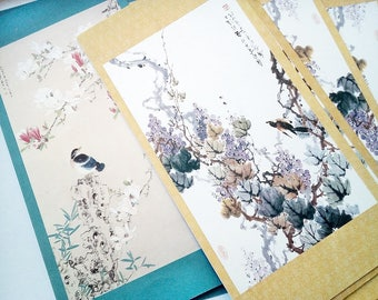 Vintage China Art Reprint Greeting Cards Christmas Cards