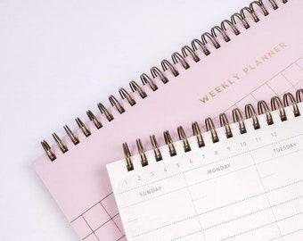 Grid Weekly Undated Planner Pink