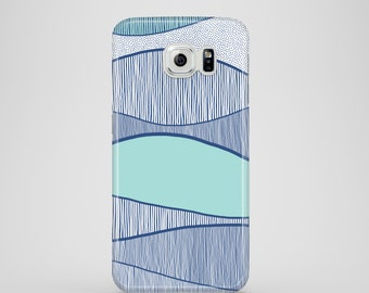 Blue Waves phone case / water phone case / Samsung Galaxy S7, Samsung Galaxy S6, Samsung Galaxy S6 Edge, Samsung Galaxy S5 / sea phone case