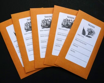 Seed Saving Envelopes for Heirloom Seeds // 1 Dozen size 3 1/4 x 5 1/2