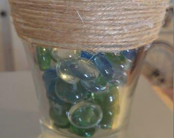 twine wrapped glass