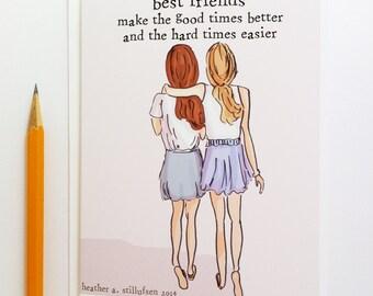 Miss You Card - Best Friends Card - Bon Voyage Card - Miss You Card - Card for Friends