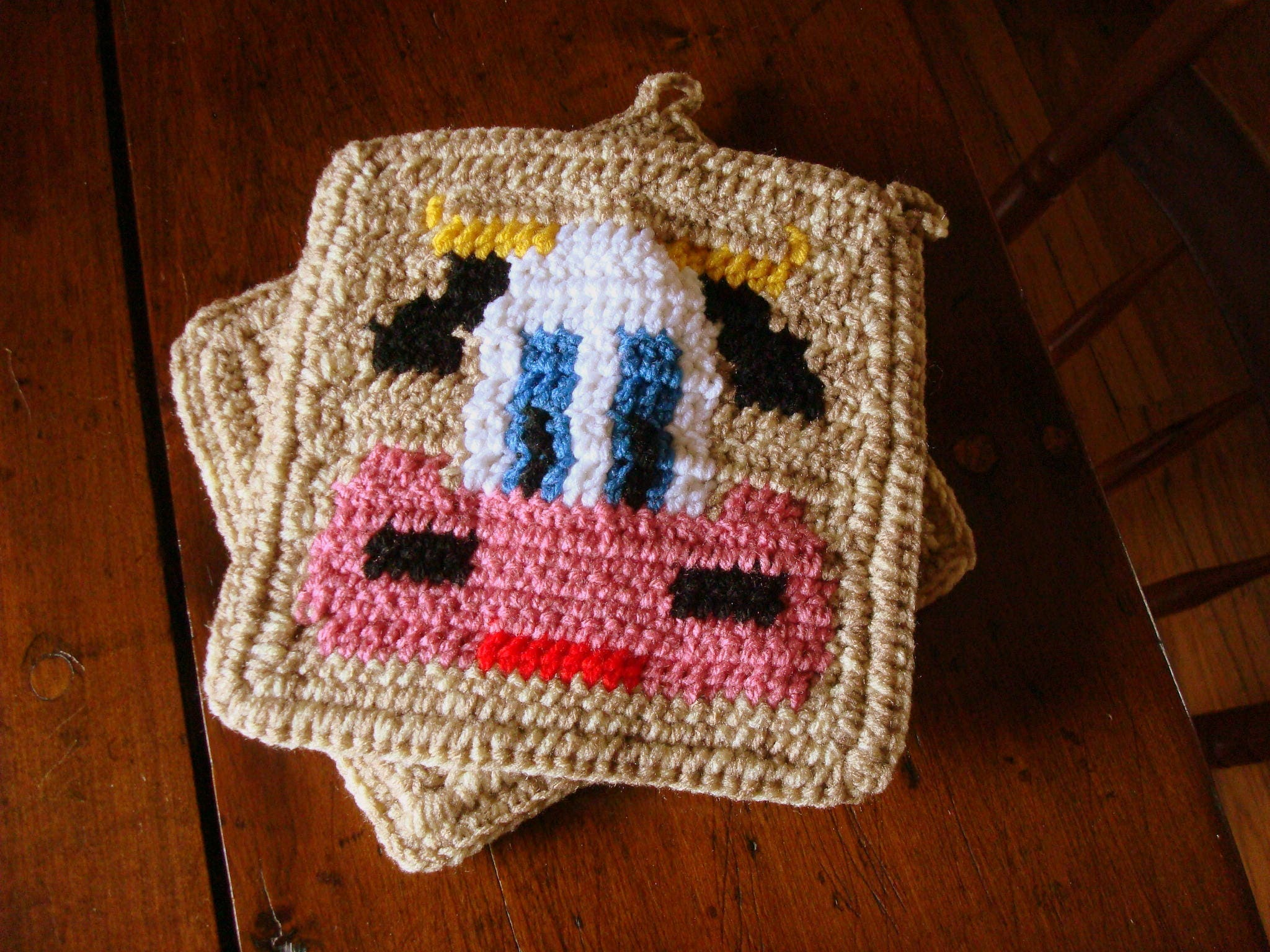 COW Potholder PDF Crochet Pattern - Graph and Written Instructions ...