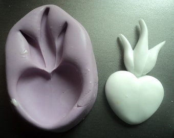 flaming heart craft mold