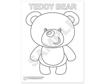 Birthday Party Coloring Sheet / Personalized Coloring Page