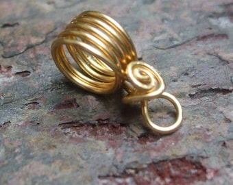 Handmade Brass Bails VI, PurpleLily Designs, SRA Suitable for Viking Knit