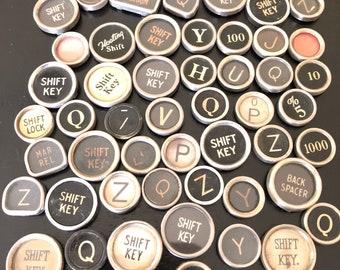 Vintage TYPEWRITER Keys Lot 50 Keys Lot 9