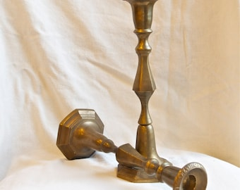 Vintage brass candle holders…brass candlesticks…
